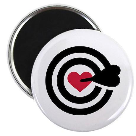 "Red heart arrow target 2.25"" Magnet (100 pack)"