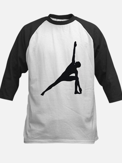 Bikram Yoga Triangle Pose Kids Baseball Jersey