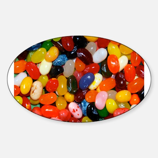 Jelly Beans! Sticker (Oval)