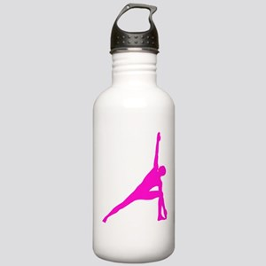 Bikram Yoga Triangle Pose in Pink Stainless Water