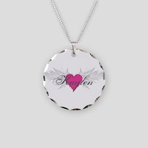 My Sweet Angel Kaylen Necklace Circle Charm