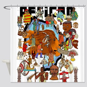 African Design Shower Curtain