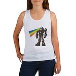 Robot Rainbow Laser Women's Tank Top