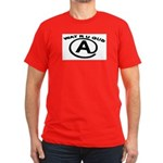WAT R U GUD AT Men's Fitted T-Shirt (dark)
