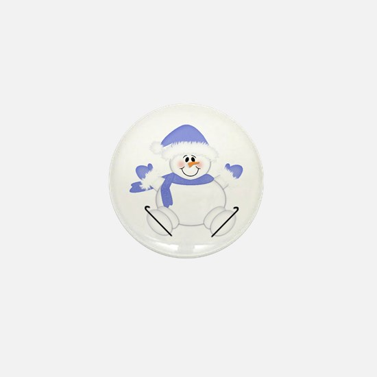 Snowman Mini Button