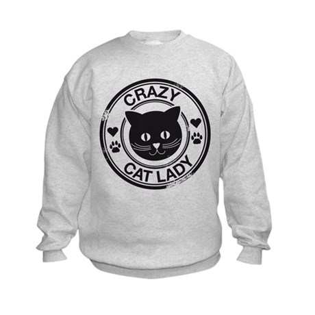 Crazy Cat Lady Kids Sweatshirt