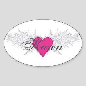 My Sweet Angel Karen Sticker (Oval)