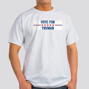Vote for TRUMAN Ash Grey T-Shirt