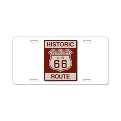 Newberry Springs Route 66 Aluminum License Plate