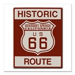 Newberry Springs Route 66 Square Car Magnet 3