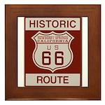 Newberry Springs Route 66 Framed Tile