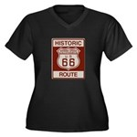 Newberry Springs Route 66 Women's Plus Size V-Neck