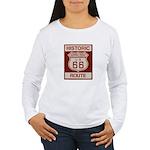 Newberry Springs Route 66 Women's Long Sleeve T-Sh