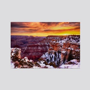 Grand Canyon Landscape at Sunrise Rectangle Magnet