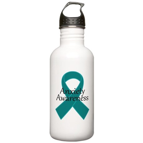 Anxiety Awareness Ribbon Stainless Water Bottle 1