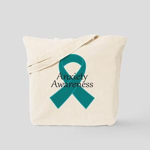 Anxiety Awareness Ribbon Tote Bag