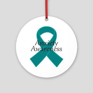 Anxiety Awareness Ribbon Ornament (Round)