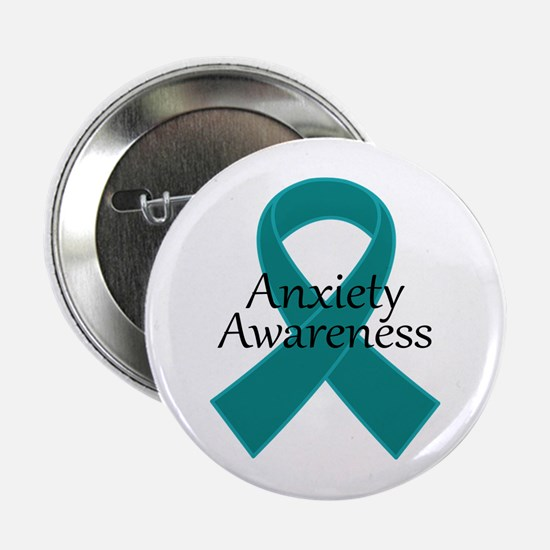 """Anxiety Awareness Ribbon 2.25"""" Button"""