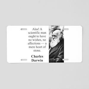Alas A Scientific Man - Charles Darwin Aluminum Li