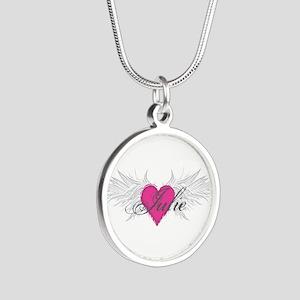 My Sweet Angel Julie Silver Round Necklace