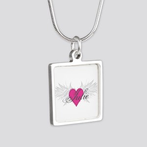 My Sweet Angel Julie Silver Square Necklace
