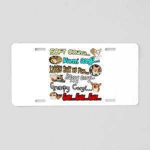 Soft Corgi Aluminum License Plate