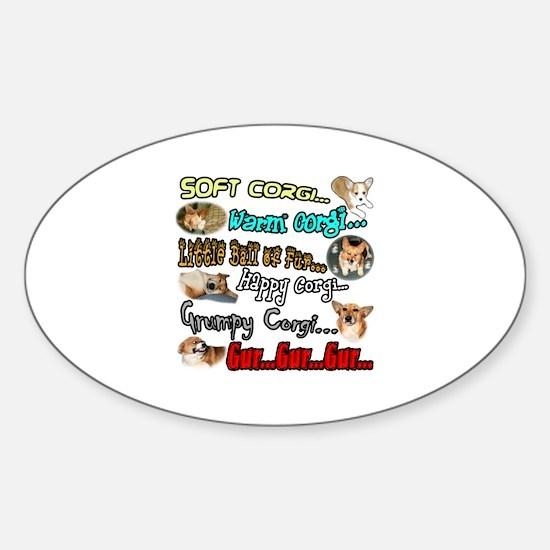 Soft Corgi Sticker (Oval)
