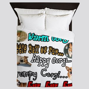 Soft Corgi Queen Duvet