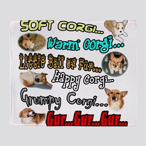 Soft Corgi Throw Blanket