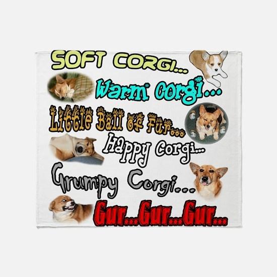 Soft Corgi Throw Blanket
