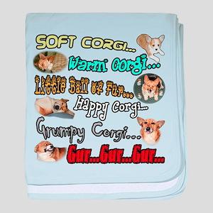 Soft Corgi baby blanket