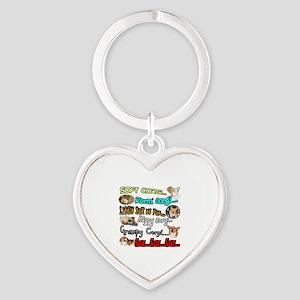 Soft Corgi Heart Keychain