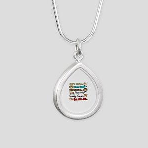 Soft Corgi Silver Teardrop Necklace