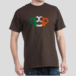 Brass knuckles Ireland flag Dark T-Shirt