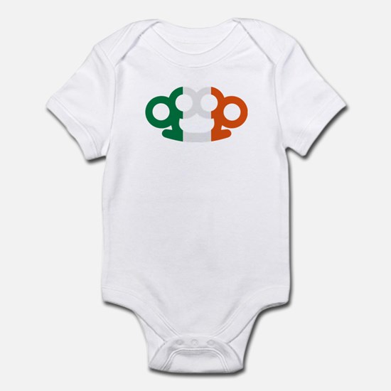 Brass knuckles Ireland flag Infant Bodysuit