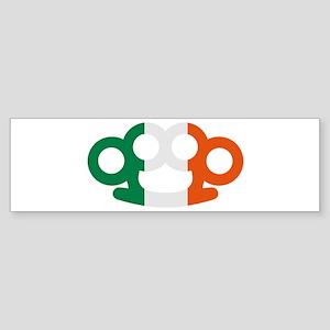 Brass knuckles Ireland flag Sticker (Bumper)
