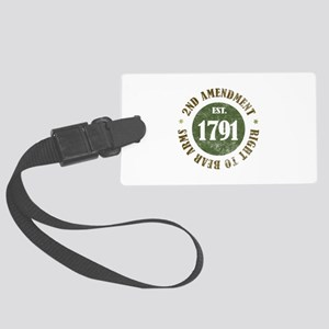 2nd Amendment Est. 1791 Large Luggage Tag