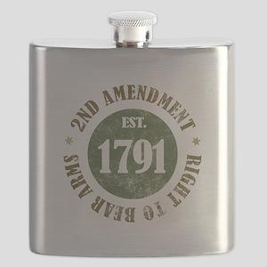 2nd Amendment Est. 1791 Flask