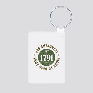 2nd Amendment Est. 1791 Aluminum Photo Keychain