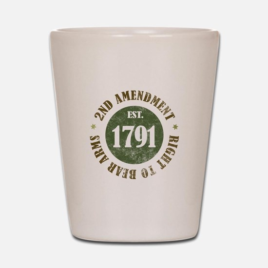 2nd Amendment Est. 1791 Shot Glass