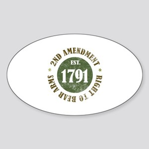2nd Amendment Est. 1791 Sticker (Oval)