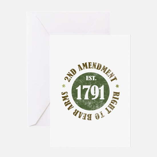 2nd Amendment Est. 1791 Greeting Card
