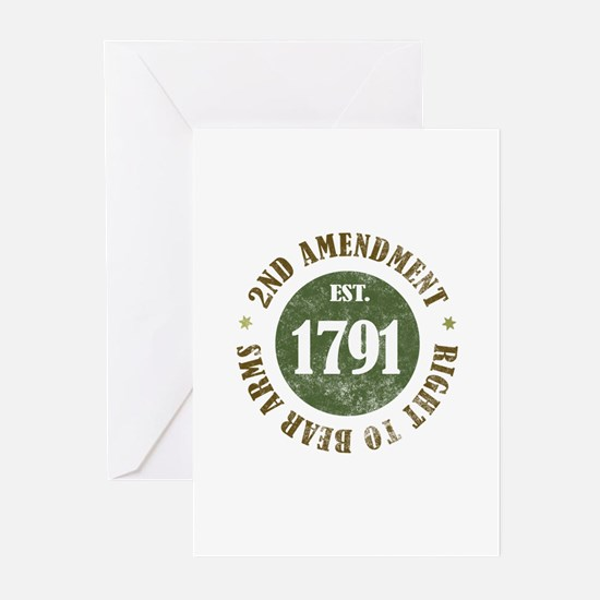 2nd Amendment Est. 1791 Greeting Cards (Pk of 10)