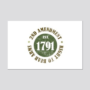 2nd Amendment Est. 1791 Mini Poster Print