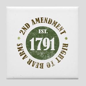 2nd Amendment Est. 1791 Tile Coaster