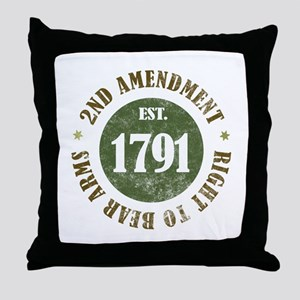 2nd Amendment Est. 1791 Throw Pillow