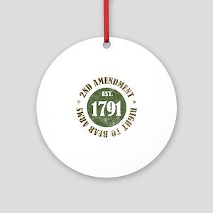 2nd Amendment Est. 1791 Ornament (Round)