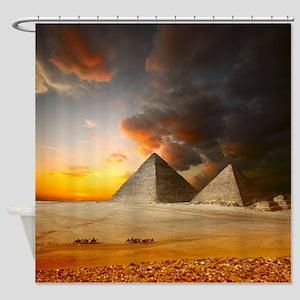 Great Pyramids of Giza Shower Curtain