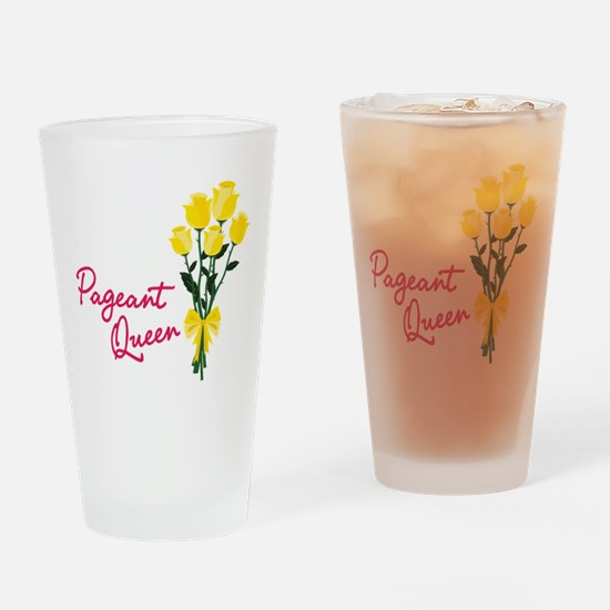 Pagent Queen Drinking Glass