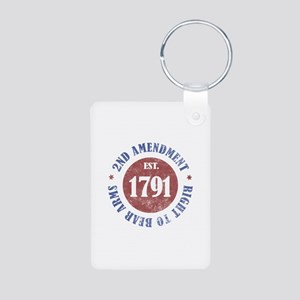 2nd Amendment Est. 1791 Aluminum Photo Keychain